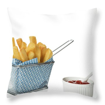 Chips With Tomato Sauce Throw Pillow