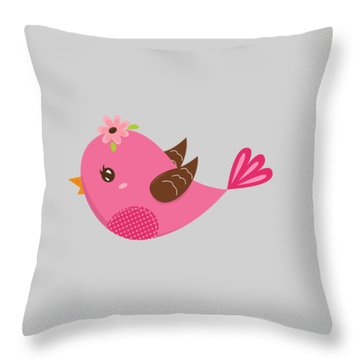 Chirp  Throw Pillow by Herb Strobino