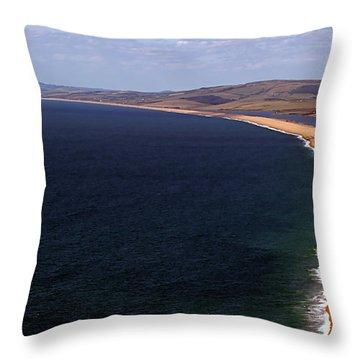 Chesill Beach Dorset Throw Pillow by Stephen Melia