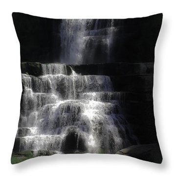 Chittenango Falls Throw Pillow by DigiArt Diaries by Vicky B Fuller