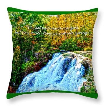 Chittenango Falls, Ny Mother Teresa  Throw Pillow by Diane E Berry