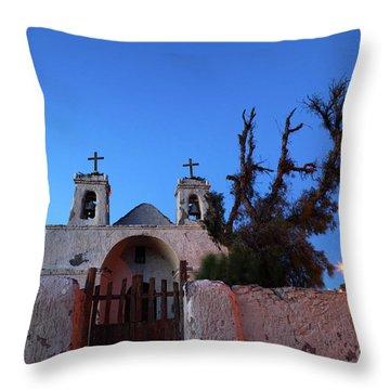 Chiu Chiu Church At Twilight Chile Throw Pillow by James Brunker