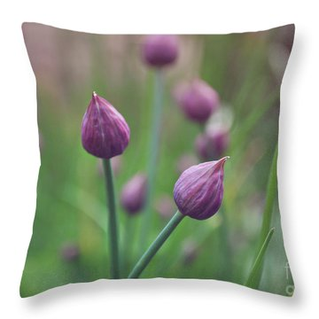 Throw Pillow featuring the photograph Chives by Lyn Randle