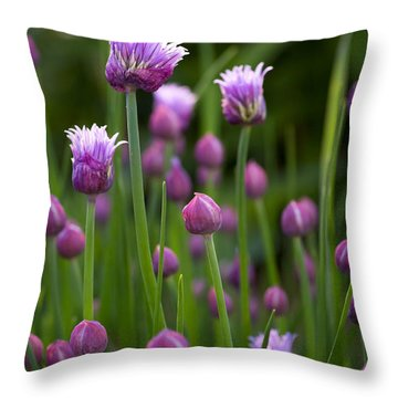 Chives Throw Pillow by Patrick Downey
