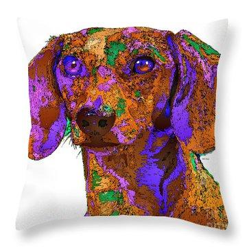 Chloe. Pet Series Throw Pillow