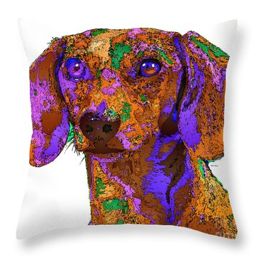 Chloe. Pet Series Throw Pillow