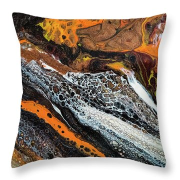 Chobezzo Abstract Series 1 Throw Pillow by Lilia D