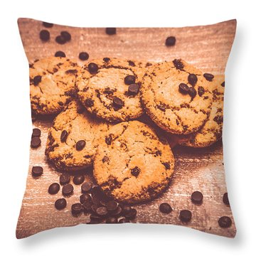 Choc Chip Biscuits Throw Pillow