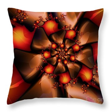 Chocolate Berry Burst Throw Pillow by Michelle H