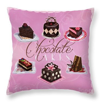 Chocolate Cakes Throw Pillow