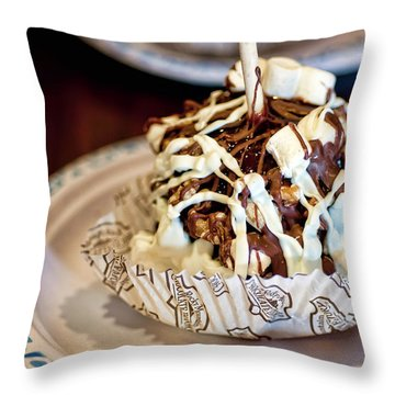 Chocolate Caramel Apple Throw Pillow