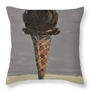 Chocolate Cone Throw Pillow