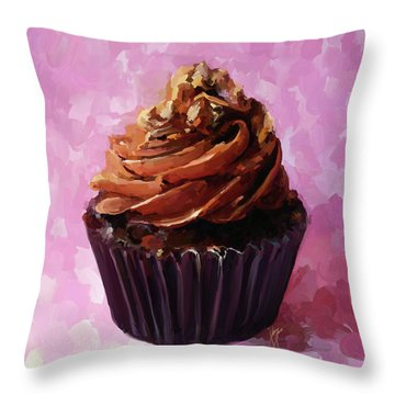 Chocolate Cupcake Throw Pillow
