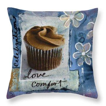 Chocolate Cupcake Love Throw Pillow