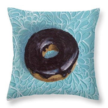 Chocolate Glazed Throw Pillow