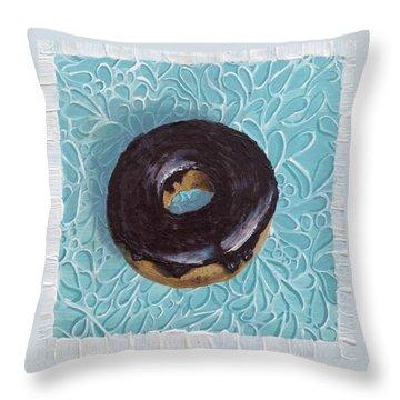 Chocolate Glazed Throw Pillow