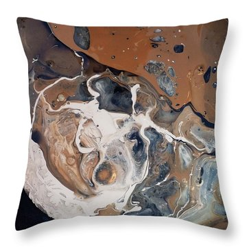 Chocolate Ice Cream Vulture Beek Throw Pillow