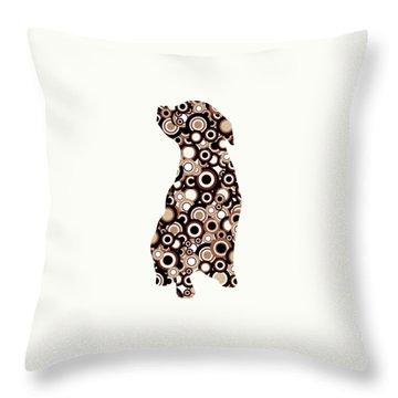 Chocolate Lab - Animal Art Throw Pillow by Anastasiya Malakhova