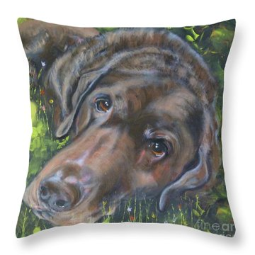 Chocolate Lab Throw Pillow