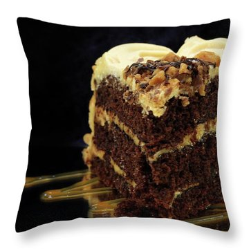 Chocolate Pb Cake Throw Pillow