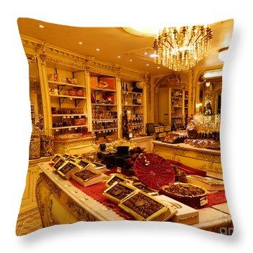 Chocolate Shop Throw Pillow