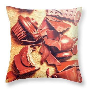 Chocolate Tableware Destruction Throw Pillow