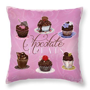 Chocolate Treats Throw Pillow
