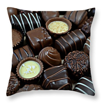Chocolates Throw Pillow
