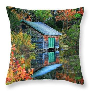 Chocorua Boathouse Throw Pillow