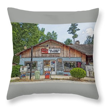 Choctaw Bluff Country Store Throw Pillow by Ericamaxine Price
