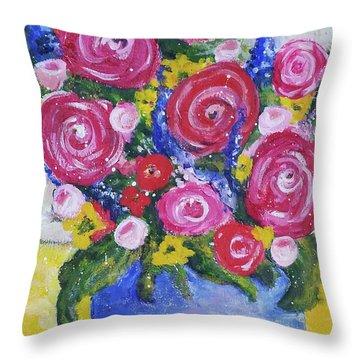 Choice Bouquet Throw Pillow