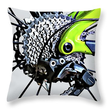Throw Pillow featuring the digital art Choice Transport 2 by Wendy J St Christopher