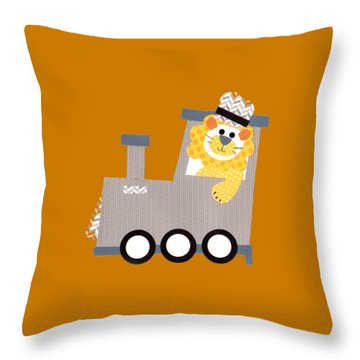 Choo Choo T-shirt Throw Pillow by Herb Strobino