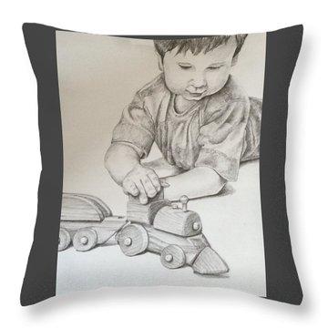 Choo Choo Throw Pillow