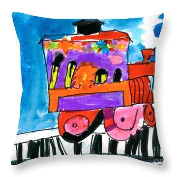 Choochoo Train Throw Pillow