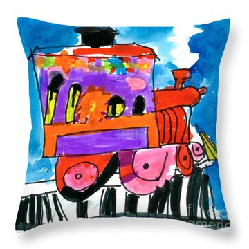 Choochoo Train Throw Pillow