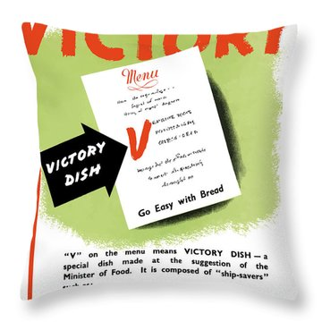 Choose For Victory -- Ww2 Throw Pillow