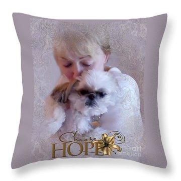 Choose Hope Throw Pillow