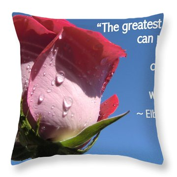 Choose Your Quote Choose Your Picture 24 Throw Pillow