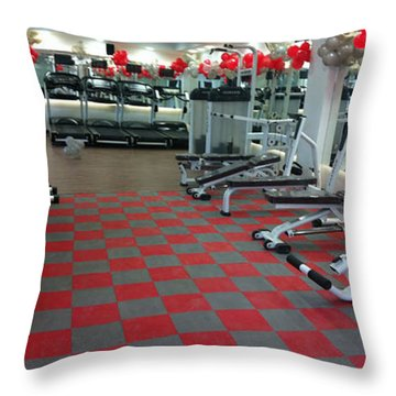 Choosing To Get The Benefits Of Silicone Gym Flooring Throw Pillow