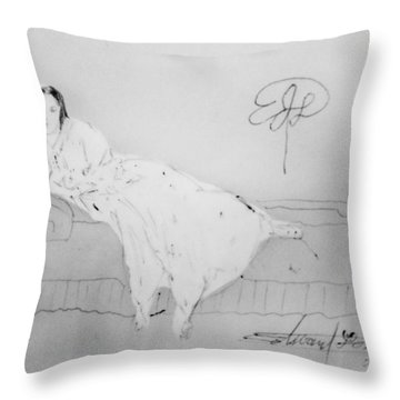 Chopin's Woman Throw Pillow