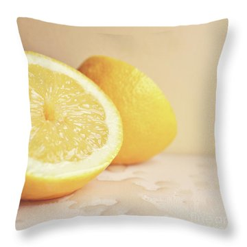 Chopped Lemon Throw Pillow by Lyn Randle