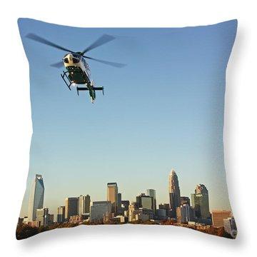 Chopper Over Charlotte Throw Pillow