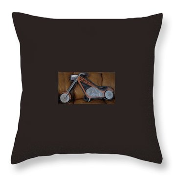Chopper Throw Pillow by Val Oconnor