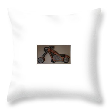 Chopper2 Throw Pillow by Val Oconnor