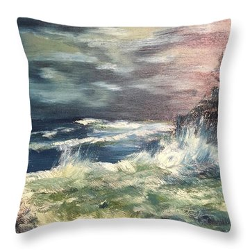 Choppy Seas 1 Throw Pillow