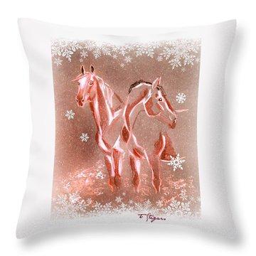 Christmas Friends II Throw Pillow