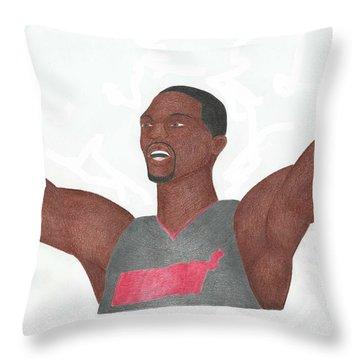 Chris Bosh Throw Pillow by Toni Jaso