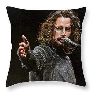 Chris Cornell Throw Pillow