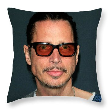 Chris Cornell Throw Pillow by Nina Prommer